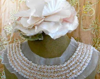 Clear Stone Beaded Applique