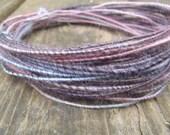 Fiber Wire Core Handspun Art Yarn 24 gauge wire Red Riding Hoods Wolf- Serendipity