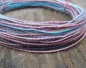 Fiber Wire Core Handspun Art Yarn 24 gauge wire Red Riding Hoods Wolf- Surf and Turf