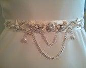 Bridal Belt Wedding Belt Sash Belt Pearls Belt Rhinestone Belt Crystal Belt Rhinestones and Pearls Sash Bridal Sash Wedding Sash Dress Sash