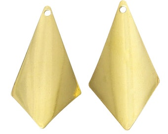 Gold Stamping Blanks - Diamond Tags - 31x16mm - 10pcs - Ships IMMEDIATELY from California - GC74
