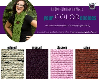 Box Stitch Neck Warmer with 4 different color choices!