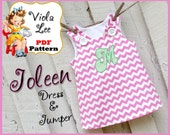 Joleen... A-line Jumper Pattern, Girl's Dress Pattern, pdf Dress Pattern, A-line Dress Pattern, Toddler Dress Pattern, Infant Dress Pattern