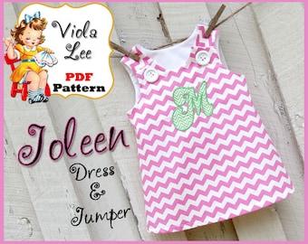 Joleen... A-line Jumper Pattern, Girl's Dress Pattern, pdf Dress Pattern, A-line Dress Pattern, Toddler Dress Pattern, Infant Dress Pattern