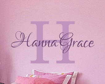 Girls Name Decal Girls Nursery Vinyl Lettering Name Wall Decal Childrens Monogram Nursery Personalized Bedroom Decor 6 sizes to choose from