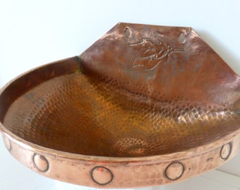 Antique French Copper Bowl
