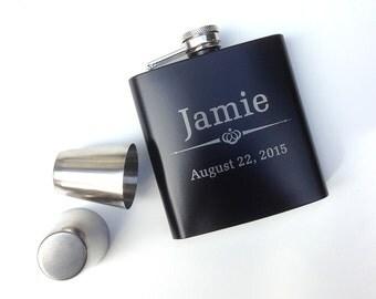 Groomsmen Gift, Engraved Hip Flask,Groomsmen Flask, Custom Flask, Best Mans Gift, Bridal Party, Wedding Party Gift