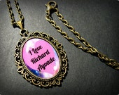 Richard Ayoade Love Necklace Pendant Antique Bronze