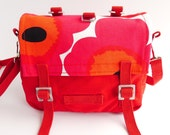 Messenger Bag Marimekko - Poppy Unikko - Red Pink Flowers