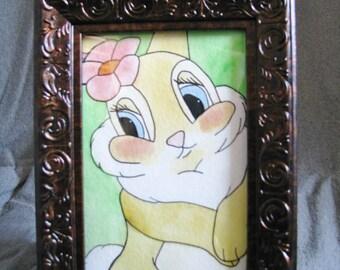 Miss Bunny Original Watercolor