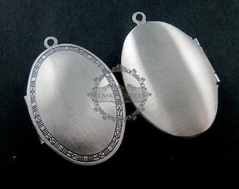 5pcs 26x40MM vintage brass antique silver oval photo locket,oval photolocket 1123004
