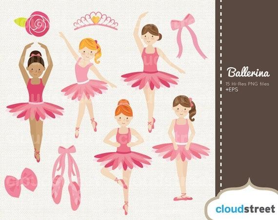 BUY 2 GET 1 FREE Cute Little Ballerina Girls Clipart