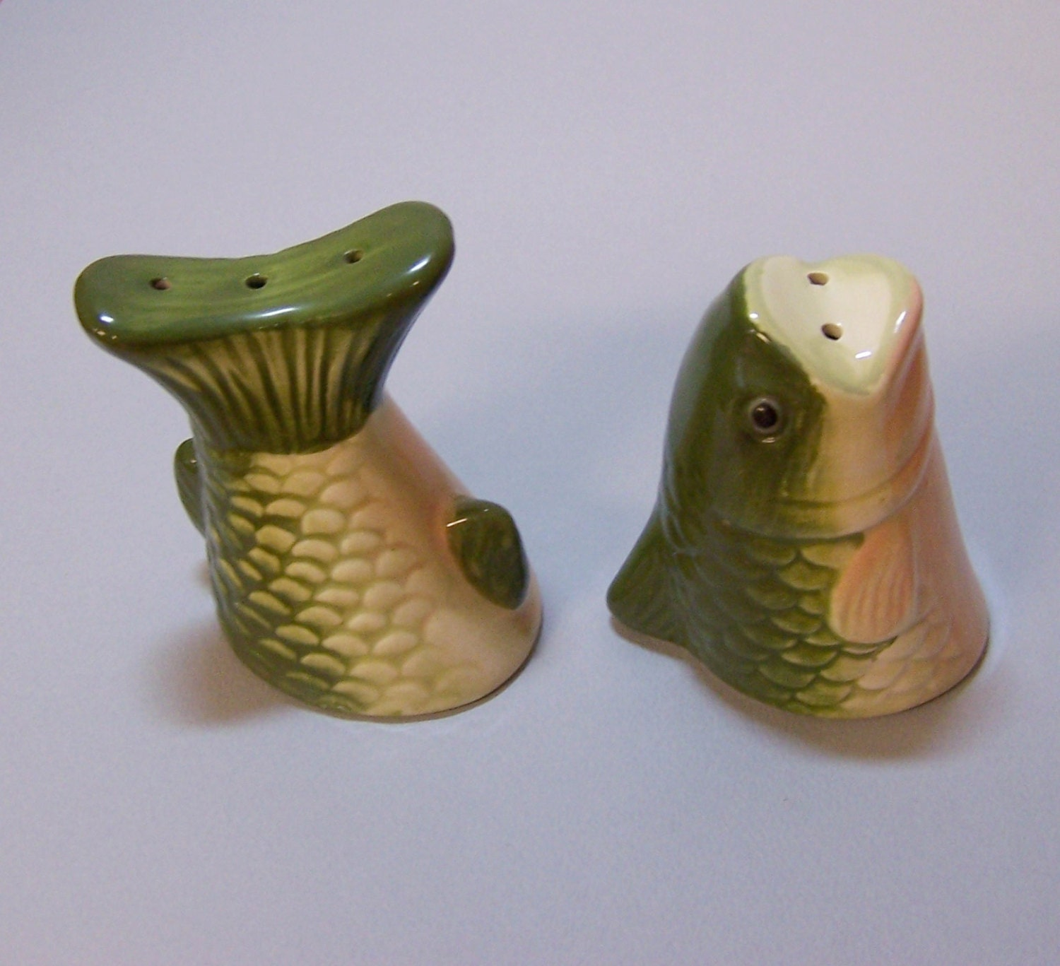 Fish Salt Pepper Shakers For The Avid By Missanthonysattic