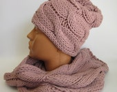 Hat and scarf ,Nice, soft, warm hat and scarf ,color light purple, violet
