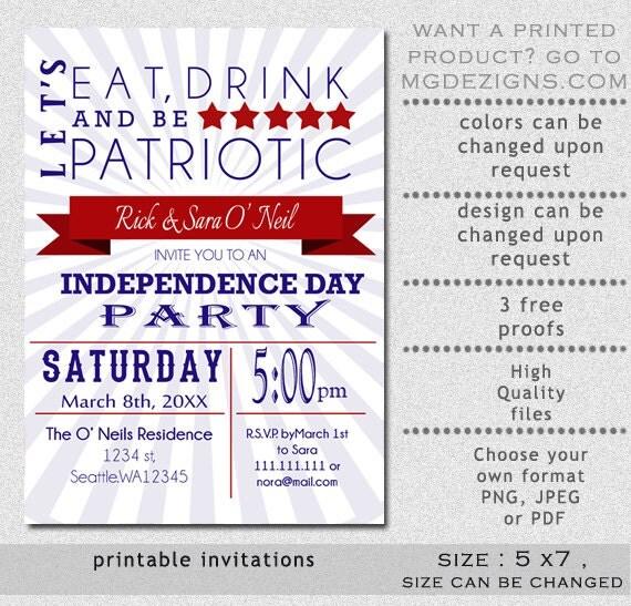 patriotic invitation templates free
