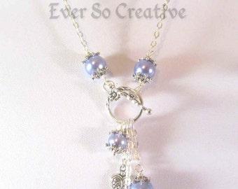 Lavender Lariat Style Necklace