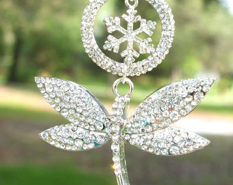 SPARKLING DRAGONFLY Tree Jewelry Christmas Ornament