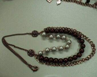 Three Strand Centerpiece Necklace