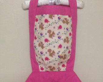 "Woodland creatures design doll or stuffed animal carrier 12"" - 15"" - 18"""