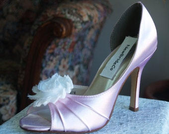 Wedding Pink Shoes more colors with distressed flower