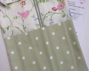 Knitting needle roll organiser sewing DIY kit make your own