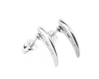 The Large Claw Earrings - Sterling Silver