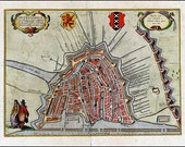 Amsterdam 1617. Antique plan of Amsterdam, the Netherlands by Braun and Hogenberg - MAP PRINT