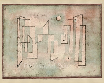 20th Century Expressionism:  Paul Klee Print Reproduction -  Foundation, (Grundfeste), 1922.  Fine Art Reproduction.