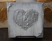 Abstract Painting, Original Painting, Textured Wall Art, Heart Art, Art Deco, Modern Art, Metallic Art, Wedding Gift, Bridal Gift, Romance