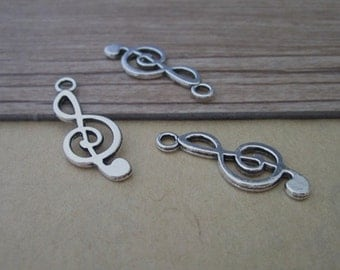 20pcs Antique Silver Music character Pendant charm 9mmx25mm