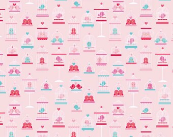 Lovey Dovey Main fabric in Pink by Riley Blake