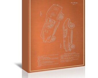 Automobile III Blue Print Art Ready-to-Hang Premium Gallery Wrap Canvas
