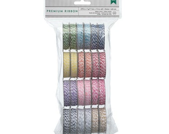 24 Rolls of Brightly Colored Bakers Twine in 12 colors - 2 Spools Each Value Pack - 366303