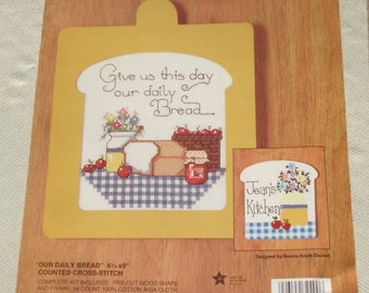 Religious Counted Cross Stitch Gallery of Crafts Stitch-N-Paint Kit - Our Daily Bread