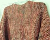Knit Cotton Shrug in Cantaloupe Orange