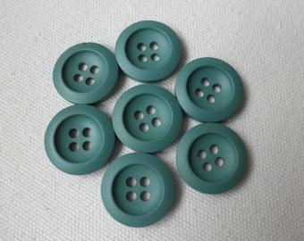 Sage green buttons-vintage buttons-supplies-7 pcs