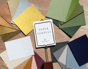 Paper Samples Pack for Papercut Ketubah | Woodland Papercuts