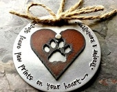 Dog Ornament-Hand Stamped Holiday Pet Ornament-Dog Ornament-Dog Lover Christmas Gift- Dog quote