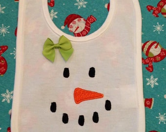 Snowman Face embroidery File