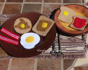 In The Hoop Breakfast Play Food embroidery file