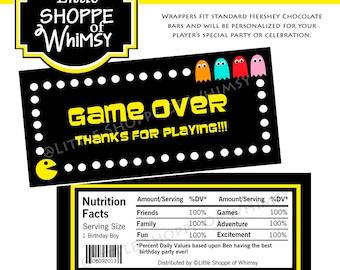 DIY Pac Man Chocolate Bar Wrappers