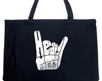 Large Tote Bag - Heavy Metal