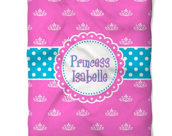 Personalized Princess Fleece Blanket