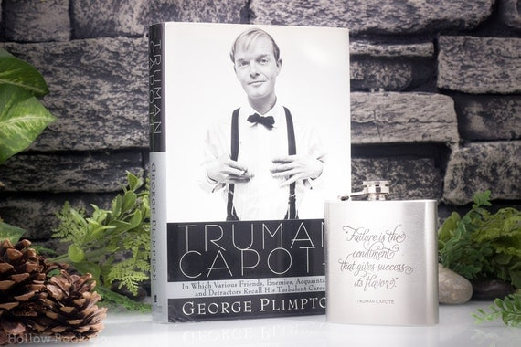 Hollow Book Safe and Hip Flask - Truman Capote