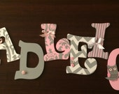Custom wooden letters of your child's name for their room