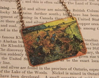 Van Gogh necklace The Red Vineyards Art jewelry  Wearable art
