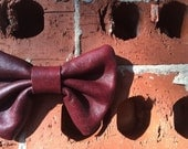 Leather Oxblood Bowtie