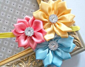 Baby Flower Headband - Small Flower Headband - Baby Photo Prop