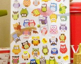 DIY Diary Scrapbook Petit Sticker Label - Owl