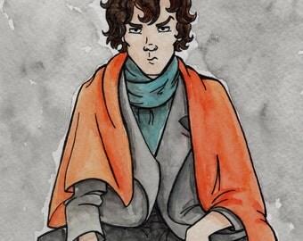 Sherlock Shock Blanket print